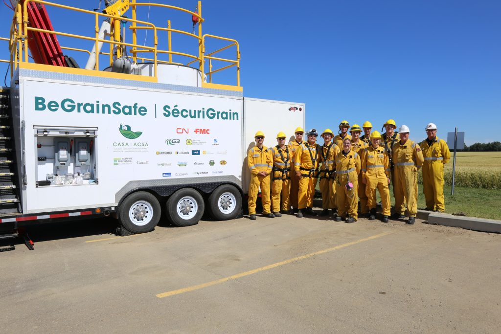 Sturgeon County Emergency Services, near G3 Morinville, received the BeGrainSafe training this August. (CASA photo)
